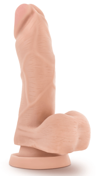 Small Realistic Dildo with Suction Cup - White