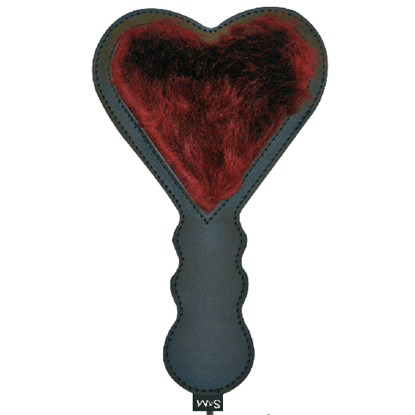 Sex & Mischief Enchanted Heart Paddle with faux fur