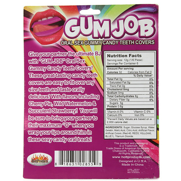Gum Job Oral Sex Gummy Candy Teeth Covers ingredients