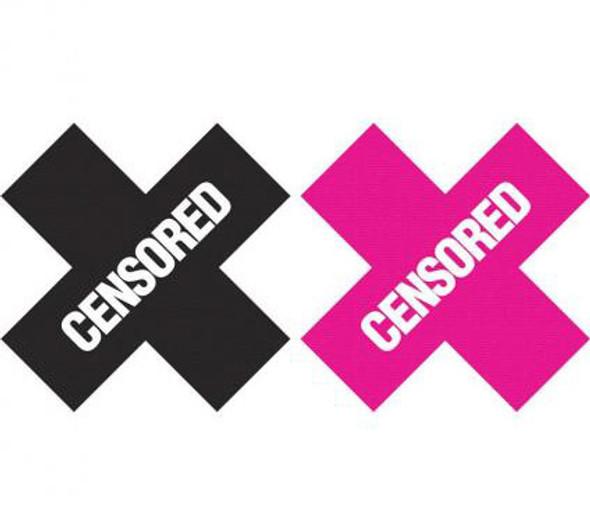 Peekaboos Censored Pasties - Pink/Black