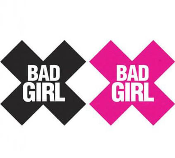 Bad Girl Pasties - Pink/Black