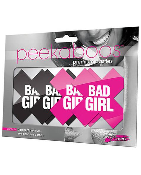"""Peekaboos Pasties 2-Pack - """"Bad Girl"""""""