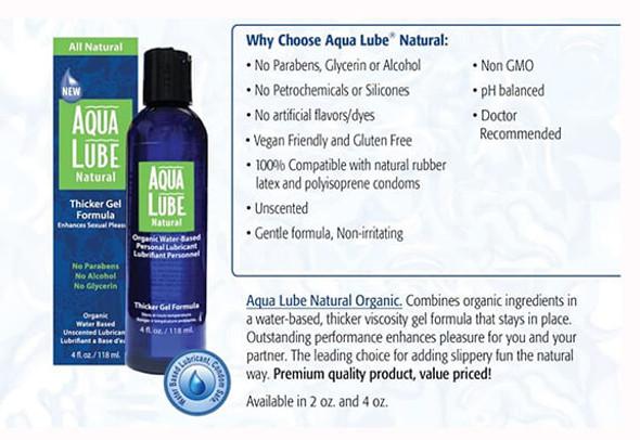 Aqua Lube Natural - Organic Gel Water-Based Formula from Mayer Labs