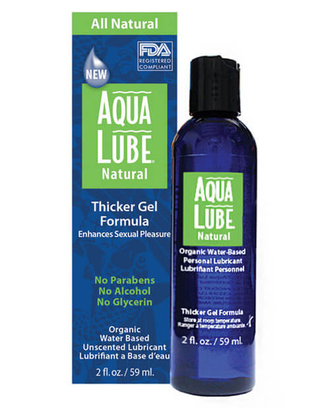 Aqua Lube Natural - Thick Gel Formula Water-Based Lubricant