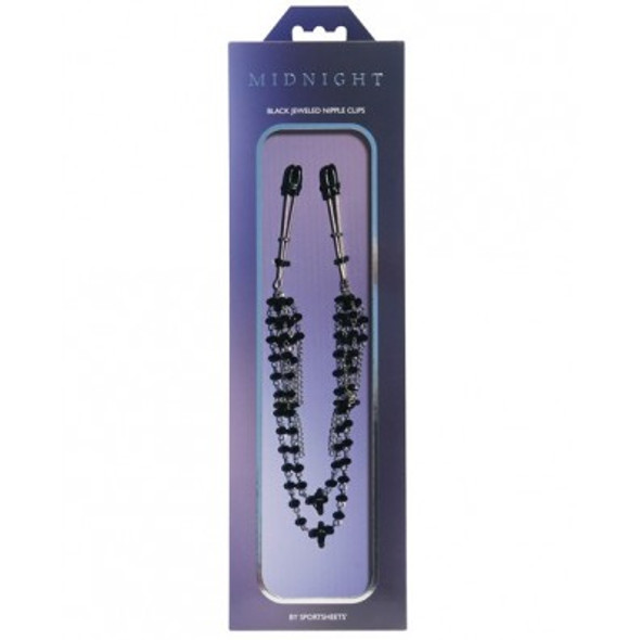 Midnight Jeweled Multi-Strand Nipple Clips