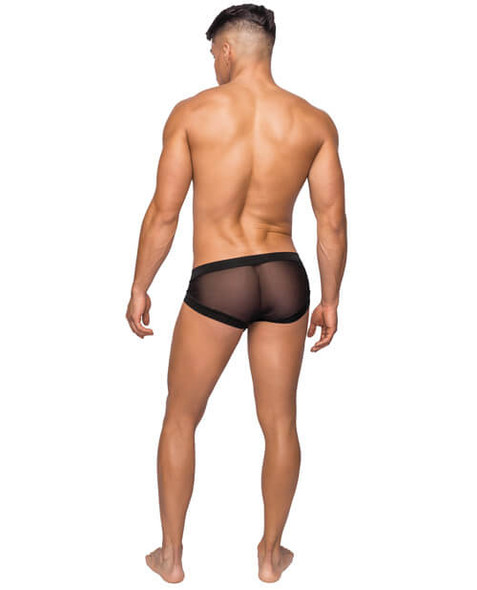 Sheer Mesh Mini Shorts for Men with Pouch