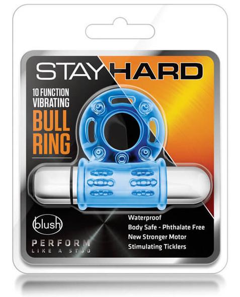 Stayhard Bull Ring Couples Massager - Blue