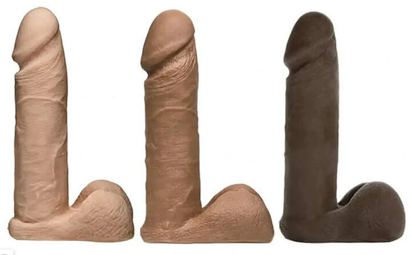Vac-U-Lock Ultraskyn Realistic Cock Dildo - White, Brown or Black