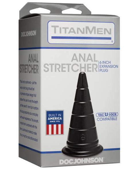 """Black Titanmen 6"""" Anal Stretcher - Advanced Anal Toys"""