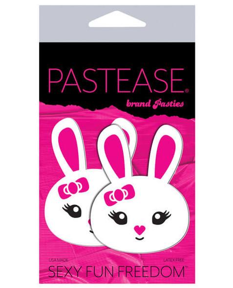 Pastease Adhesive Nipple Pasties: White/Pink Bunnies