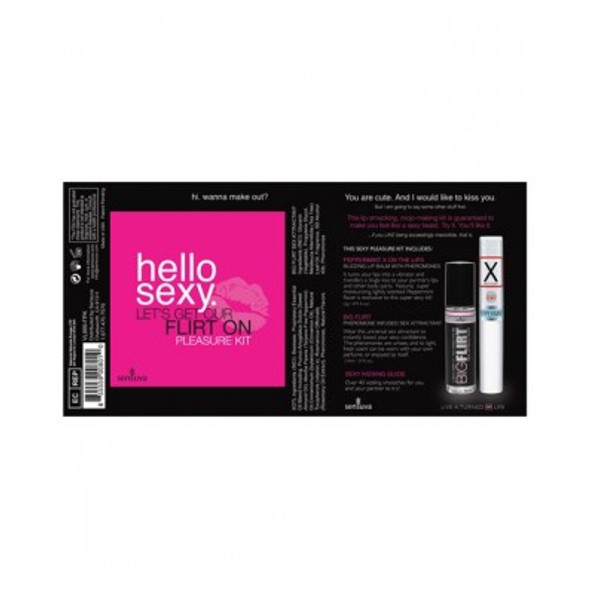 """Hello Sexy """"Let's Get Our Flirt On"""" Pleasure Kit"""