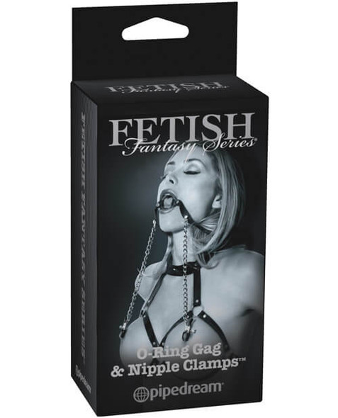 Fetish Fantasy Series Gag with Nipple Clamps