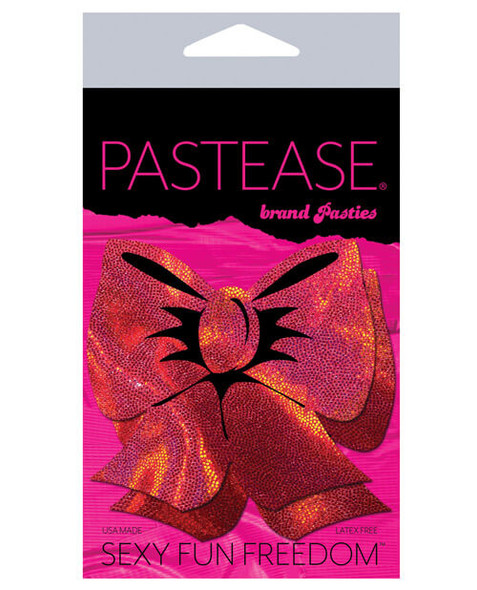 Pastease Hologram Bow - Red