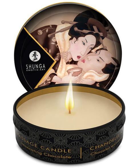 Shunga Massage Candle - Travel Size - Chocolate