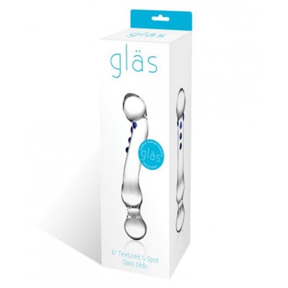 """Gläs Toys Curved G-Spot Glass Dildo 6"""""""