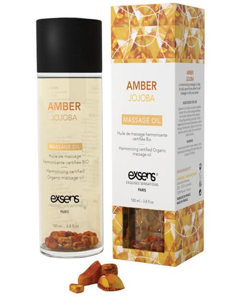 Amber Jojoba - EXSENS of Paris: Organic Massage Oil with Crystals