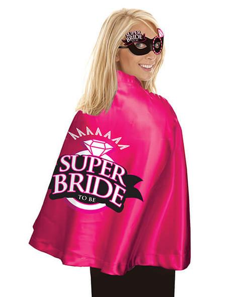 Super Bride Cape & Mask - Hot Pink Bachelorette Party Set