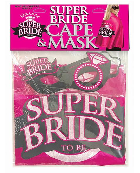 Pink Super Bride Cape & Mask