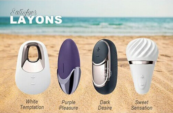 Satisfyer Layons External Vibes White, Black, Purple and Pink Styles