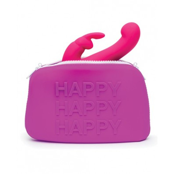Happy Rabbit Toy Storage Bag - Large Pink