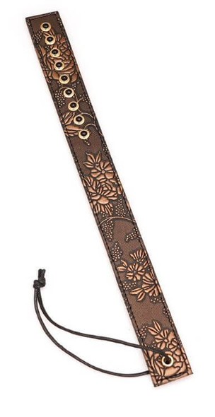 Spartacus Brown Floral Print Leather Paddle