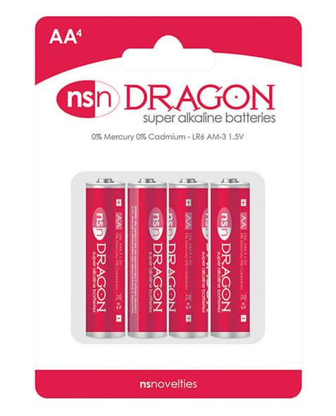 Dragon AA Sized Alkaline Batteries - 4 Pack