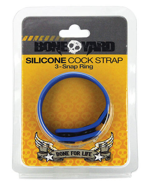Boneyard Toys 3-Snap Silicone Cock Ring