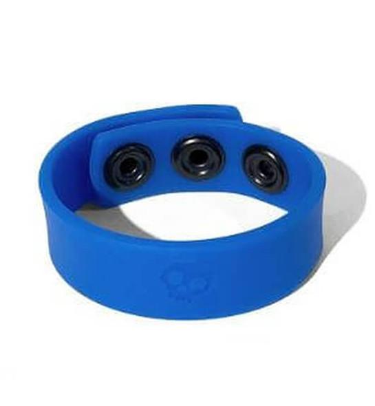 Boneyard Toys 3-Snap Silicone Cock Ring - Blue