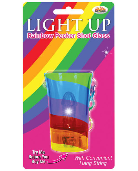 Light Up Rainbow Pride Pecker Shot Glass