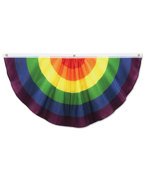 Pride Party Rainbow Fabric Bunting