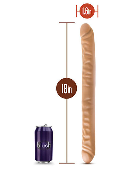 Brown Double Headed Dildo - 18 Inches