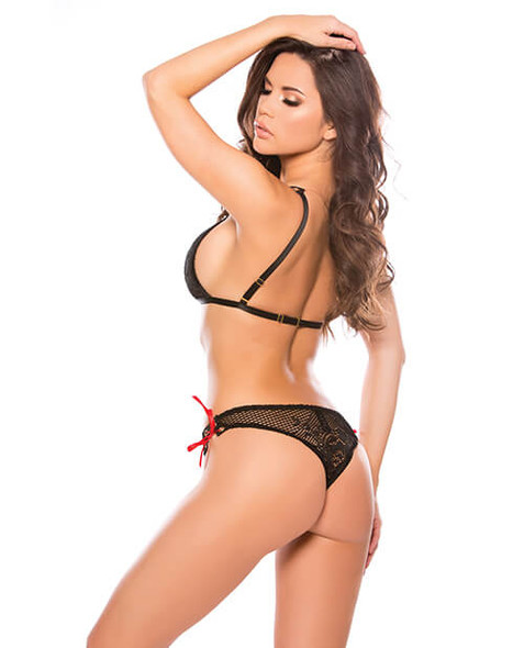 Kitten Tara Black Lace Bikini Set