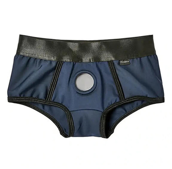 Blue Em.Ex. Active Fit Harness Shorts from Sportsheets