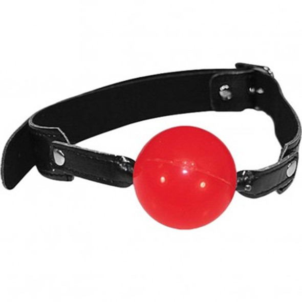 Sex & Mischief Solid Ball Gag - Red