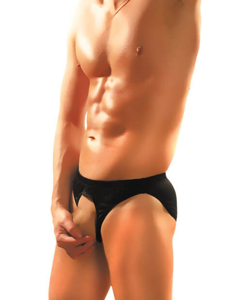 Male Power Pouchless Brief - Black