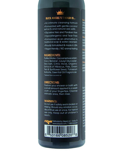 Buck Angel T-Wash contains natural ingredients for safe intimate cleansing