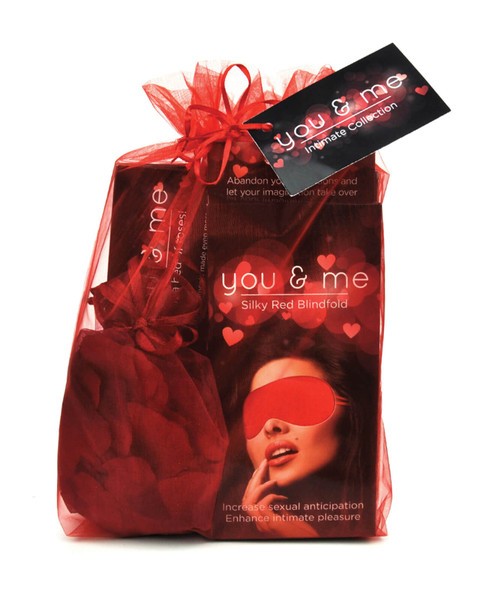 The You & Me Intimacy Game & Gift Set is stored in a red organza bag for sexy gifting