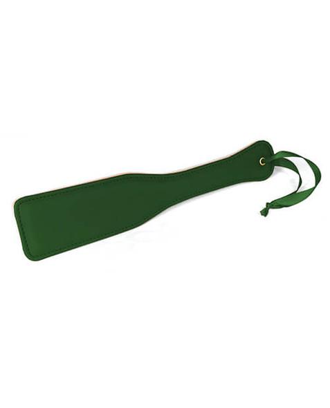 Vegan Leather Spartacus Plush Spanking Paddle - Green