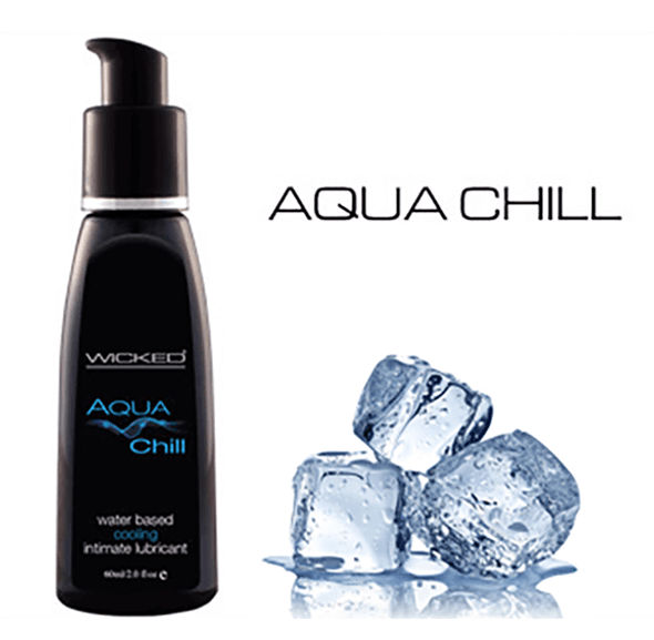 Enjoy icy temperature play with Wicked Sensual Care Aqua CHILL Water-Based Lubricant