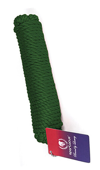 Green Spartacus Nylon Bondage Rope - 10 Meters