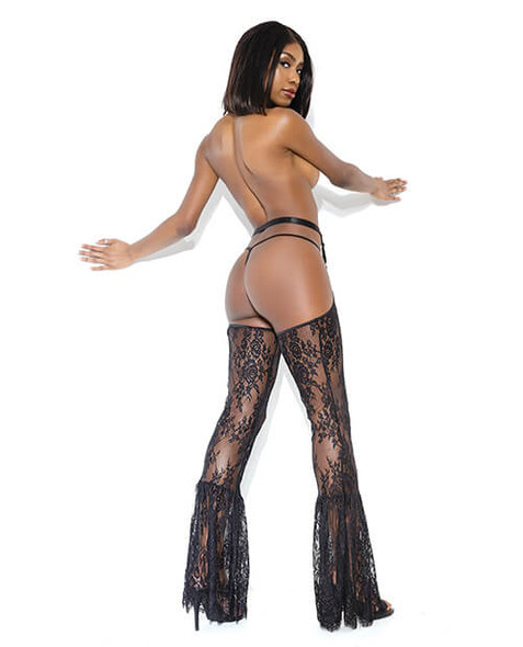Darque Lace Bell Bottom Chaps Harness