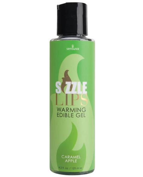 Sizzle Lips Warming Gel - 4.2 oz Caramel Apple