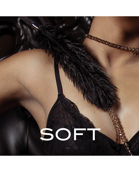 Soft Black Feather Tickler for  Better Foreplay