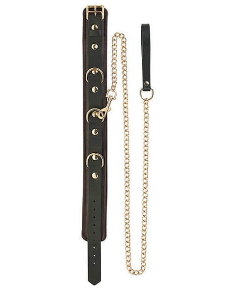 Spartacus Collar & Leash - Brown Leather