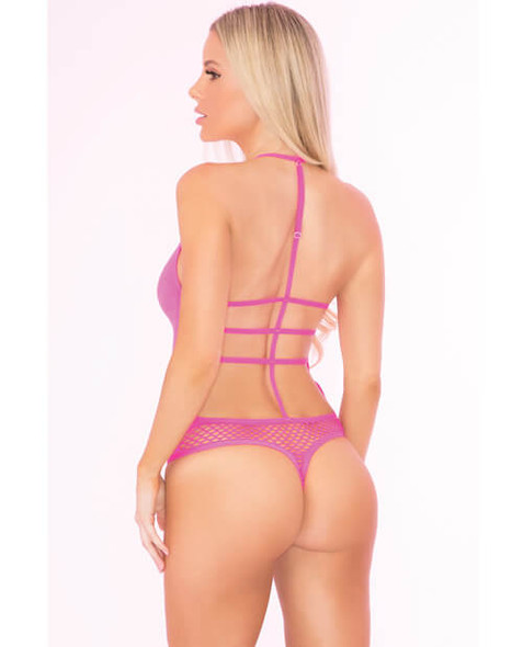 Hot Pink Shameless Thong-Back Teddy from Pink Lipstick