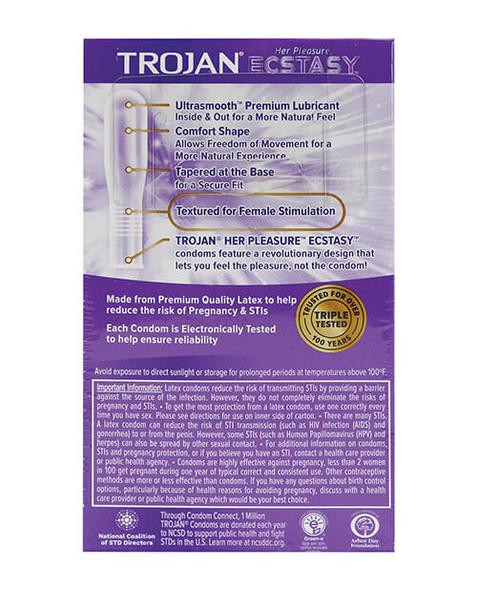 Trojan Ecstasy Condoms - 10 Pack