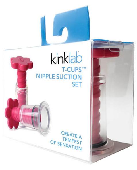 Kinklab T-Cup Nipple Suction Set - Pink