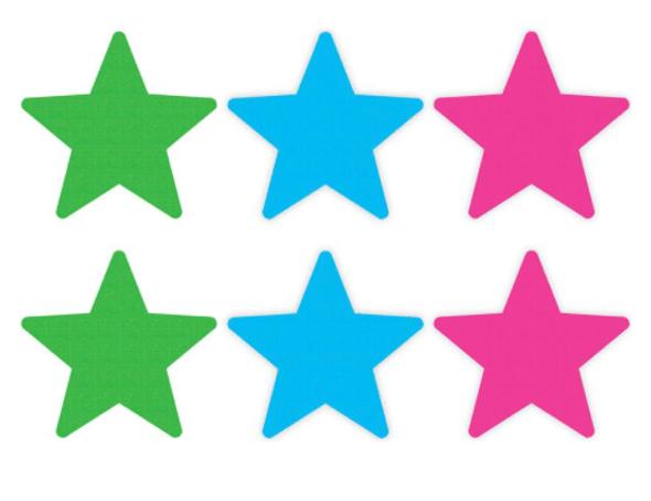 Peekaboos Star Pasties Neon Value Pack - Pink, Green, Blue