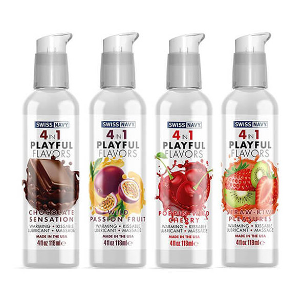 Swiss Navy 4 in 1 Flavors - 4 ounces