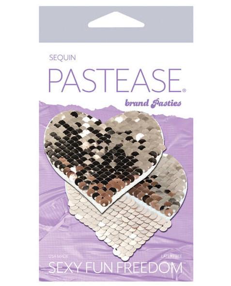 Pastease Adhesive Nipple Pasties: Flip Sequin Hearts